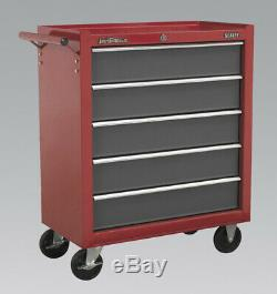 Sealey AP22505BB Rollcab 5 Drawer with Ball Bearing Slides Red/Grey