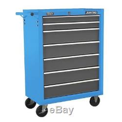 Sealey AP22507BBMB Rollcab 7 Drawer with Ball Bearing Slides Matte Blue