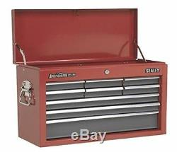 Sealey AP22509BB Topchest 9 Drawer with Ball Bearing Slides Red/Grey