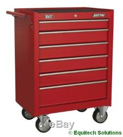 Sealey AP226 Roll Cab 7 Drawer Tool Box Chest Ball Bearing Runners Slides Red