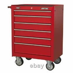 Sealey AP226 Rollcab 6 Drawer with Ball Bearing Slides Red