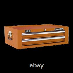 Sealey AP26029TO Orange Add On Mid Chest Tool Box Ball Bearing Runners Slides