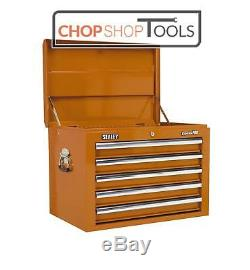 Sealey AP26059TO Topchest 5 Drawer with Ball Bearing Slides Orange
