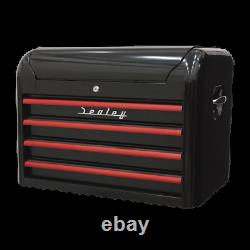 Sealey AP28104BR Topchest Toolbox Ball Bearing Runners Slides 4 Drawer Retro