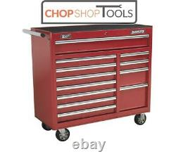 Sealey AP41120 Rollcab 12 Drawer with Ball Bearing Slides Heavy-Duty Red