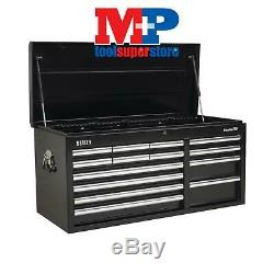 Sealey AP41149B Topchest 14 Drawer with Ball Bearing Slides Heavy-Duty Black