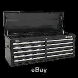 Sealey AP5210TB Topchest 10 Drawer with Ball Bearing Slides Black