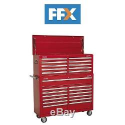 Sealey AP52COMBO1 Red 23 Drawer Tool Chest Combination Ball Bearing Slides
