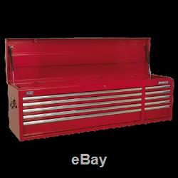 Sealey AP6610 Topchest 10 Drawer with Ball Bearing Slides Heavy-Duty Red