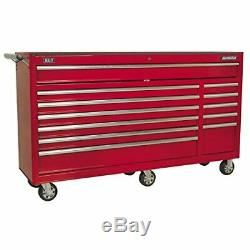 Sealey AP6612 Rollcab 12 Drawer with Ball Bearing Slides Heavy-Duty Red