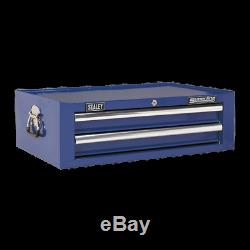 Sealey Mid-Box 2 Drawer with Ball Bearing Slides Blue