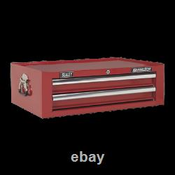Sealey Mid-Box 2 Drawer with Ball Bearing Slides Red
