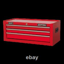 Sealey Mid Box 3 Drawer with Ball Bearing Slides Red AP223