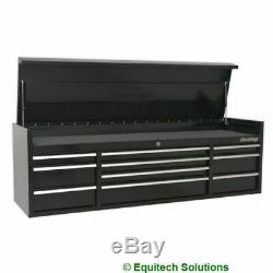 Sealey PTB181510 Black 10 Drawer Tool Box Top Chest Ball Bearing Runners Slides