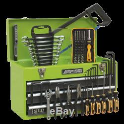 Sealey Portable Tool Chest 3 Drawer with Ball Bearing Slides Hi-Vis & 93pc Too