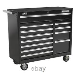 Sealey Rollcab 12 Drawer with Ball Bearing Slides Heavy-Duty Black