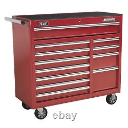 Sealey Rollcab 12 Drawer with Ball Bearing Slides Heavy-Duty Red