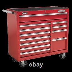 Sealey Rollcab 12 Drawer with Ball Bearing Slides Heavy Duty Red AP41120