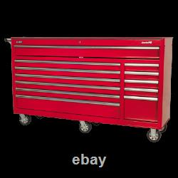 Sealey Rollcab 12 Drawer with Ball Bearing Slides Heavy Duty Red AP6612