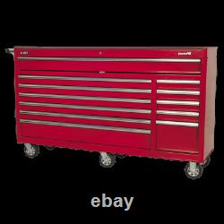 Sealey Rollcab 12 Drawer with Ball Bearing Slides Heavy-Duty Red Garage Wor