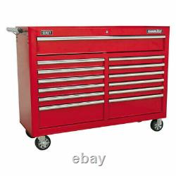 Sealey Rollcab 13 Drawer with Ball Bearing Slides Red