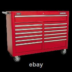 Sealey Rollcab 13 Drawer with Ball Bearing Slides Red AP5213T