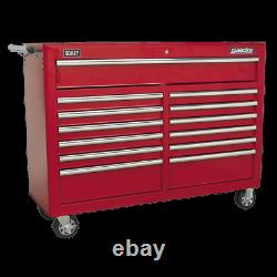 Sealey Rollcab 13 Drawer with Ball Bearing Slides Red AP5213T 1 Year Warranty