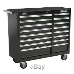 Sealey Rollcab 16 Drawer With Ball Bearing Slides Heavy-duty Black