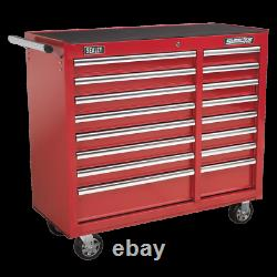 Sealey Rollcab 16 Drawer with Ball Bearing Slides Heavy Duty Red AP41169