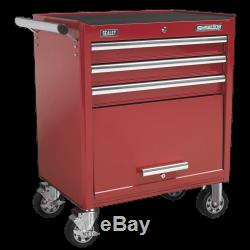 Sealey Rollcab 3 Drawer with Ball Bearing Slides Red AP33439 1 Year Warranty
