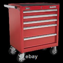 Sealey Rollcab 5 Drawer with Ball Bearing Slides Red AP33459