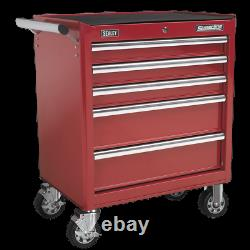 Sealey Rollcab 5 Drawer with Ball Bearing Slides Red AP33459 1 Year Warranty