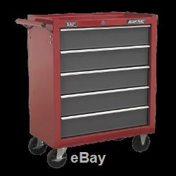 Sealey Rollcab 5 Drawer with Ball Bearing Slides Red/Grey