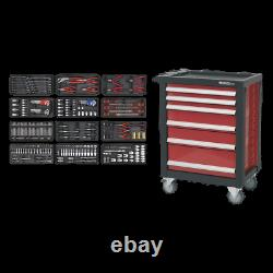 Sealey Rollcab 6 Drawer with Ball Bearing Slides with 298pc Tool Kit Garage W