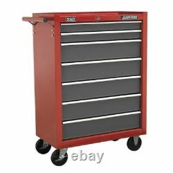 Sealey Rollcab 7 Drawer With Ball Bearing Slides Red/gr Ap22507bb
