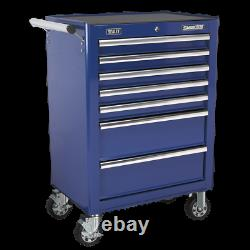 Sealey Rollcab 7 Drawer with Ball Bearing Slides-Blue AP26479TC 1 Year Warranty