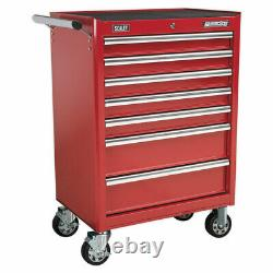 Sealey Rollcab 7 Drawer with Ball Bearing Slides Red