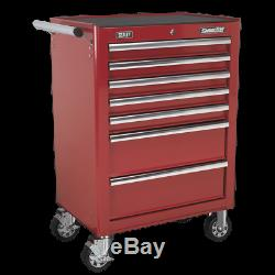 Sealey Rollcab 7 Drawer with Ball Bearing Slides Red AP26479T