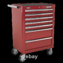 Sealey Rollcab 7 Drawer with Ball Bearing Slides Red AP26479T 1 Year Warranty
