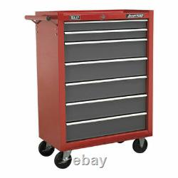 Sealey Rollcab 7 Drawer with Ball Bearing Slides Red/Grey