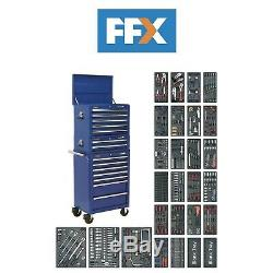 Sealey SPTCCOMBO1 Tool Chest Combination 14 Drawer with Ball Bearing Slides Blue