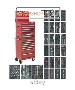 Sealey SPTCOMBO1 Tool Chest Combination 14 Drawer with Ball Bearing Slides Red
