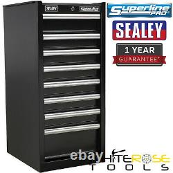 Sealey Superline Pro Hang-On Chest 8 Drawer with Ball Bearing Slides Black