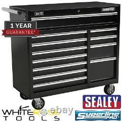 Sealey Superline Pro Rollcab 12 Drawer with Ball Bearing Slides Heavy-Duty Black