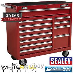 Sealey Superline Pro Rollcab 12 Drawer with Ball Bearing Slides Heavy-Duty Red