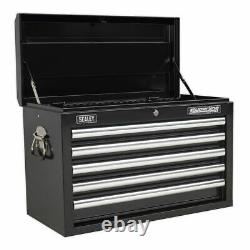 Sealey Superline Pro Topchest 5 Drawer with Ball Bearing Slides Black