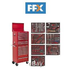 Sealey TBTPCOMBO1 Tool Chest Combination 14 Drawer Ball Bearing Slides Red 446pc