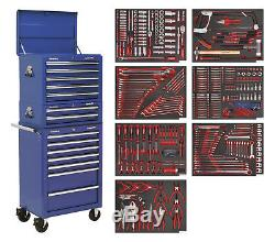 Sealey TBTPCOMBO5 Tool Chest Combination 14 Drawer with Ball Bearing Slides Bl
