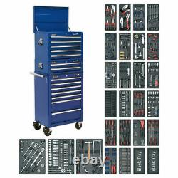Sealey Tool Chest Combination 14 Drawer-Ball Bearing Slides-Blue-1179pc Tool Kit