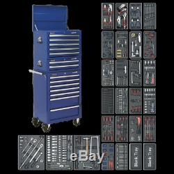 Sealey Tool Chest Combination 14 Drawer with Ball Bearing Slides Blue & 1179pc